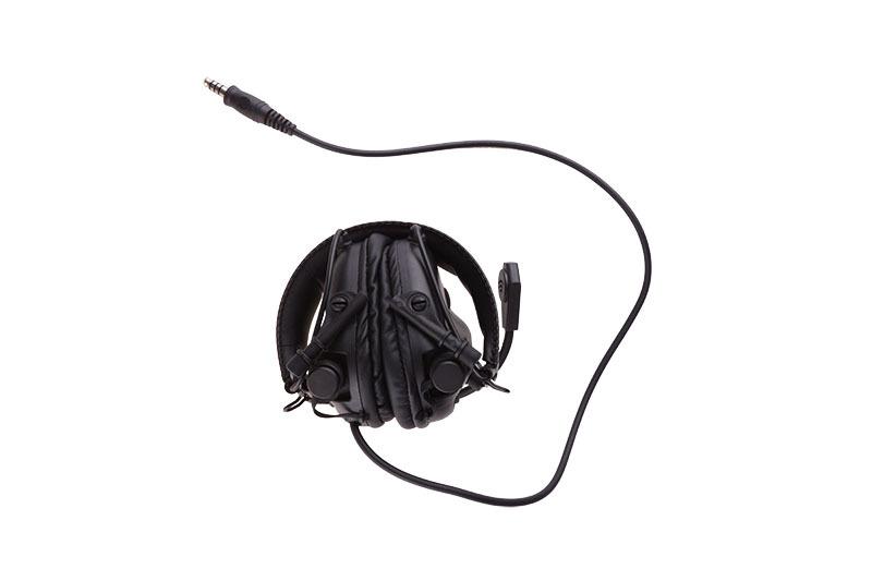 Earmor M32 Svart aktiva horselskydd med mikrofon