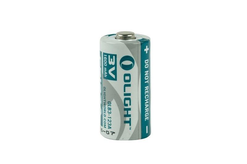 Olight 3V CR123A Li-Fe 1600mAh batteri