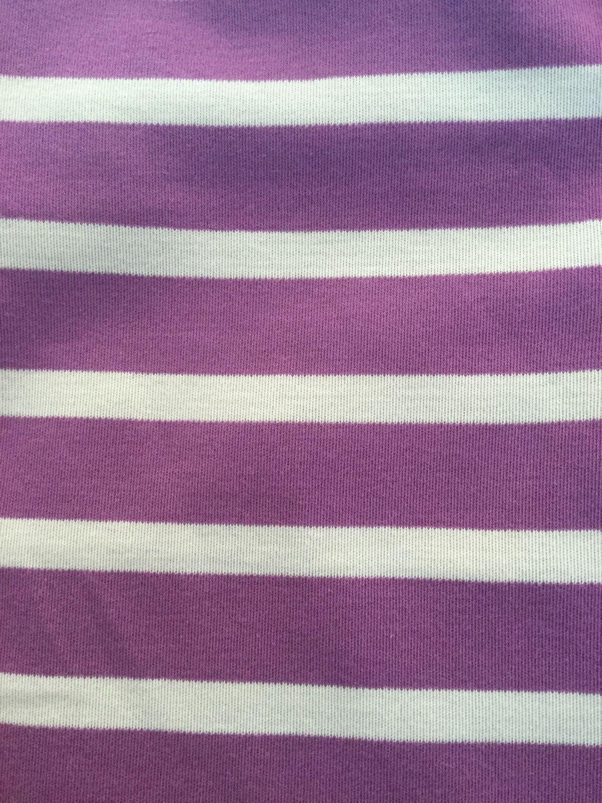 Pigeon - T-shirt (Breton stripe), purple/pumice,