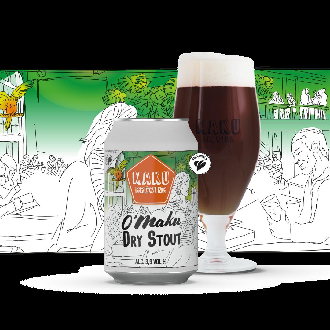 O'Maku Dry Stout 3,9% / 0,33l