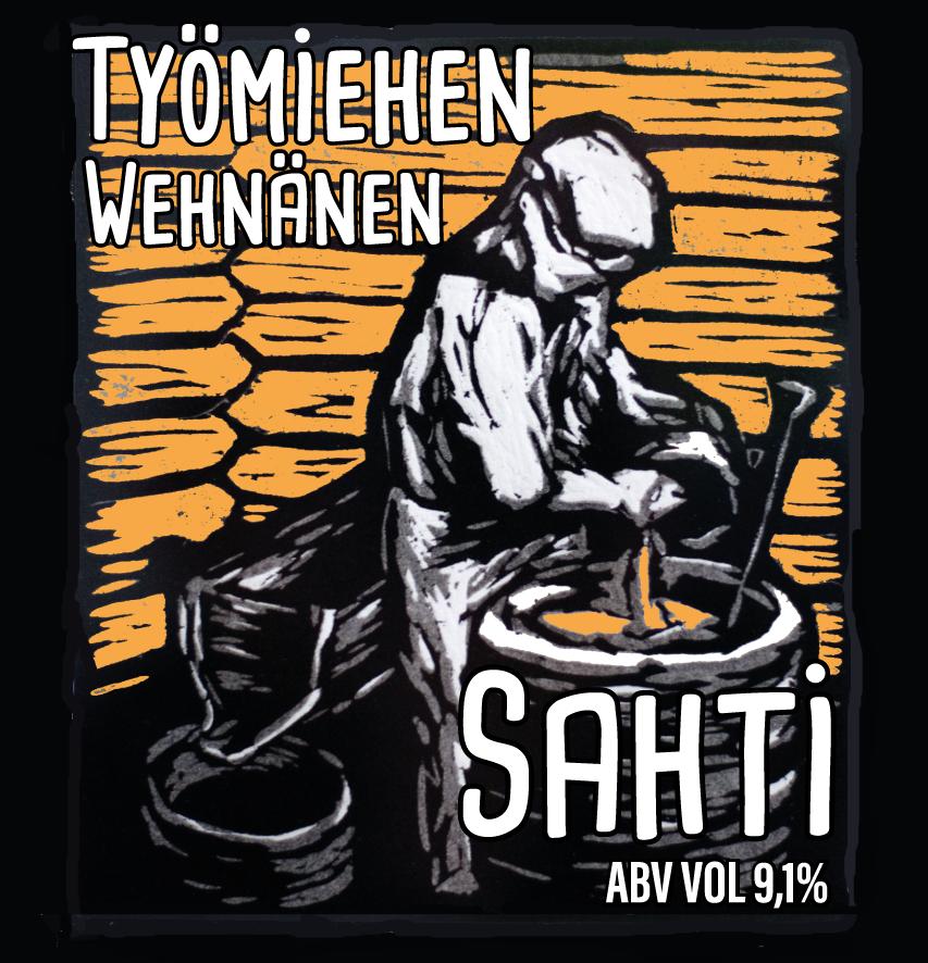Työmiehen Wehnänen Sahti 9,1% / 0,5l (NOUDETTAVISSA 18.6 ALKAEN)