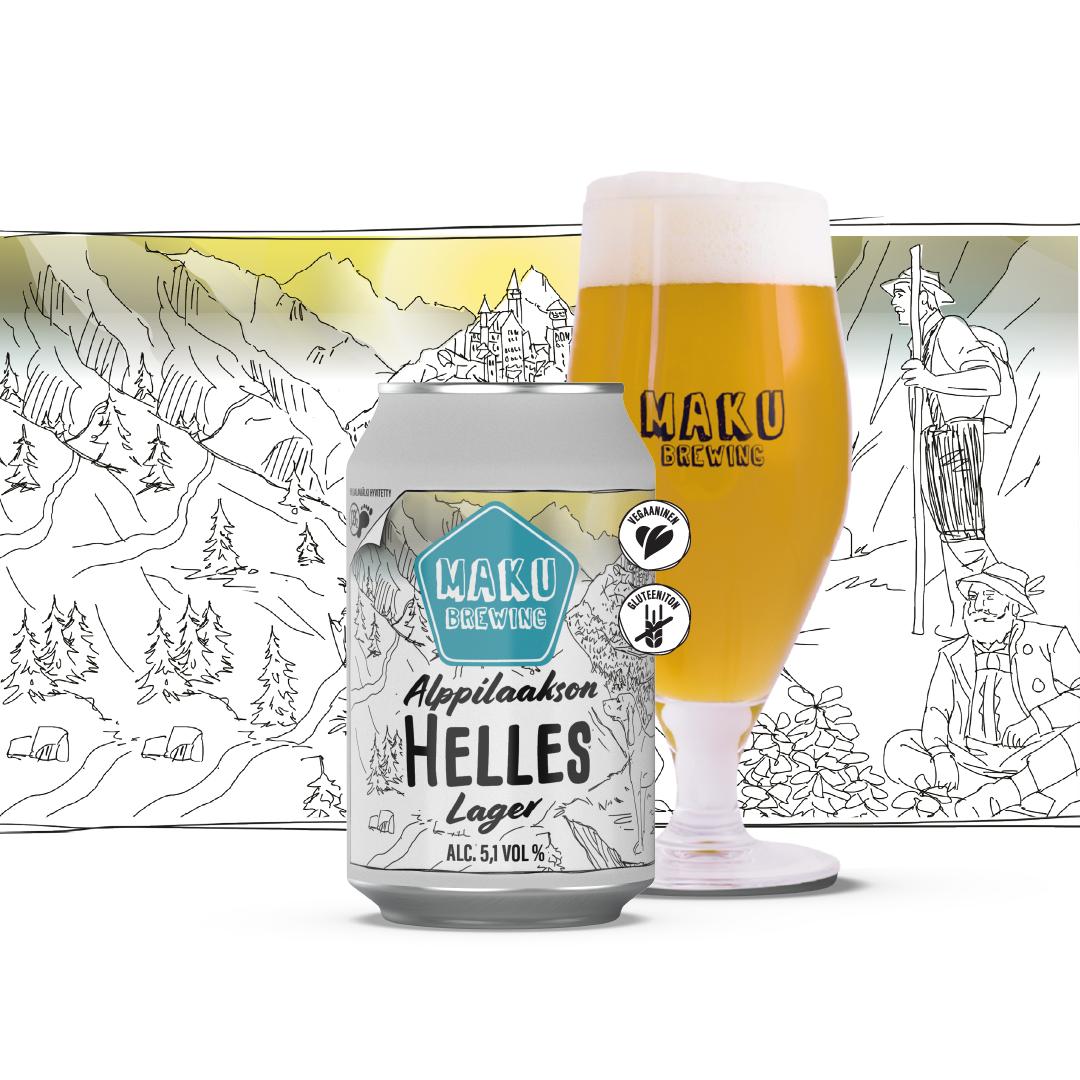 Alppilaakson Helles Lager 5,1% / 0,33l (G)