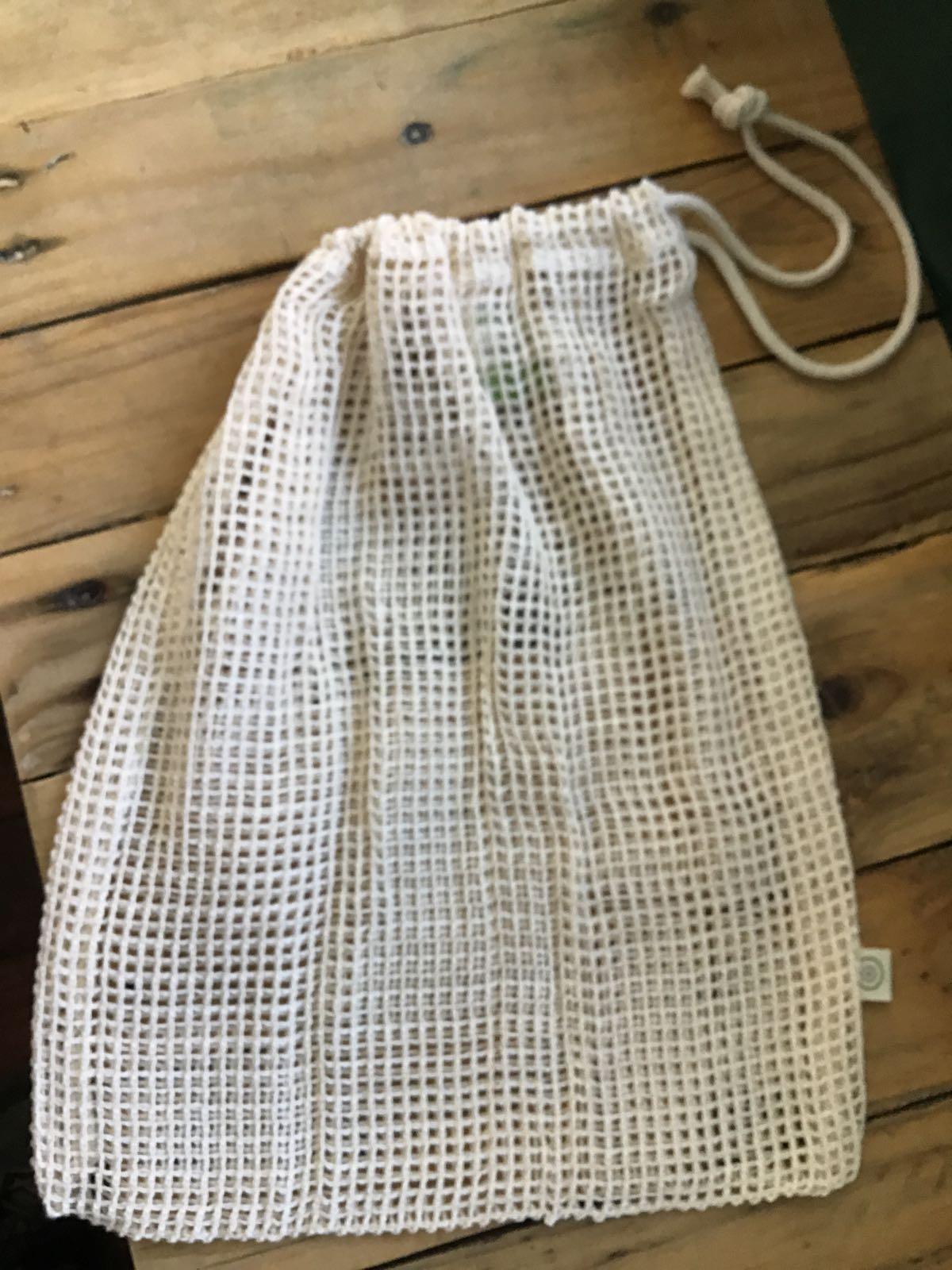Medium, Mesh Cotton produce bags (Organic)