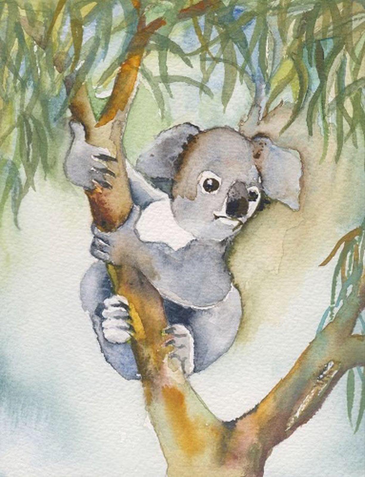 'Koala in a Tree' Furzedown Gallery Mini Card