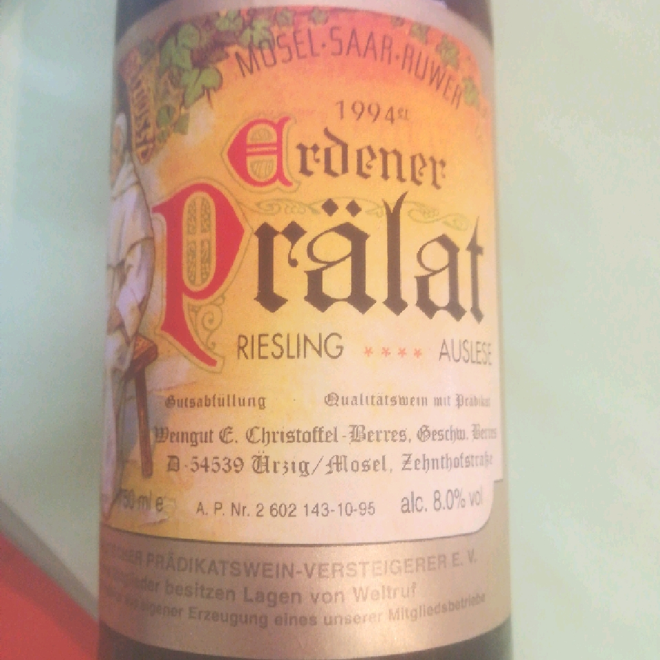 1994 Erdener Pralat Riesling Auslese *** - Elisabeth Christoffel-Berres
