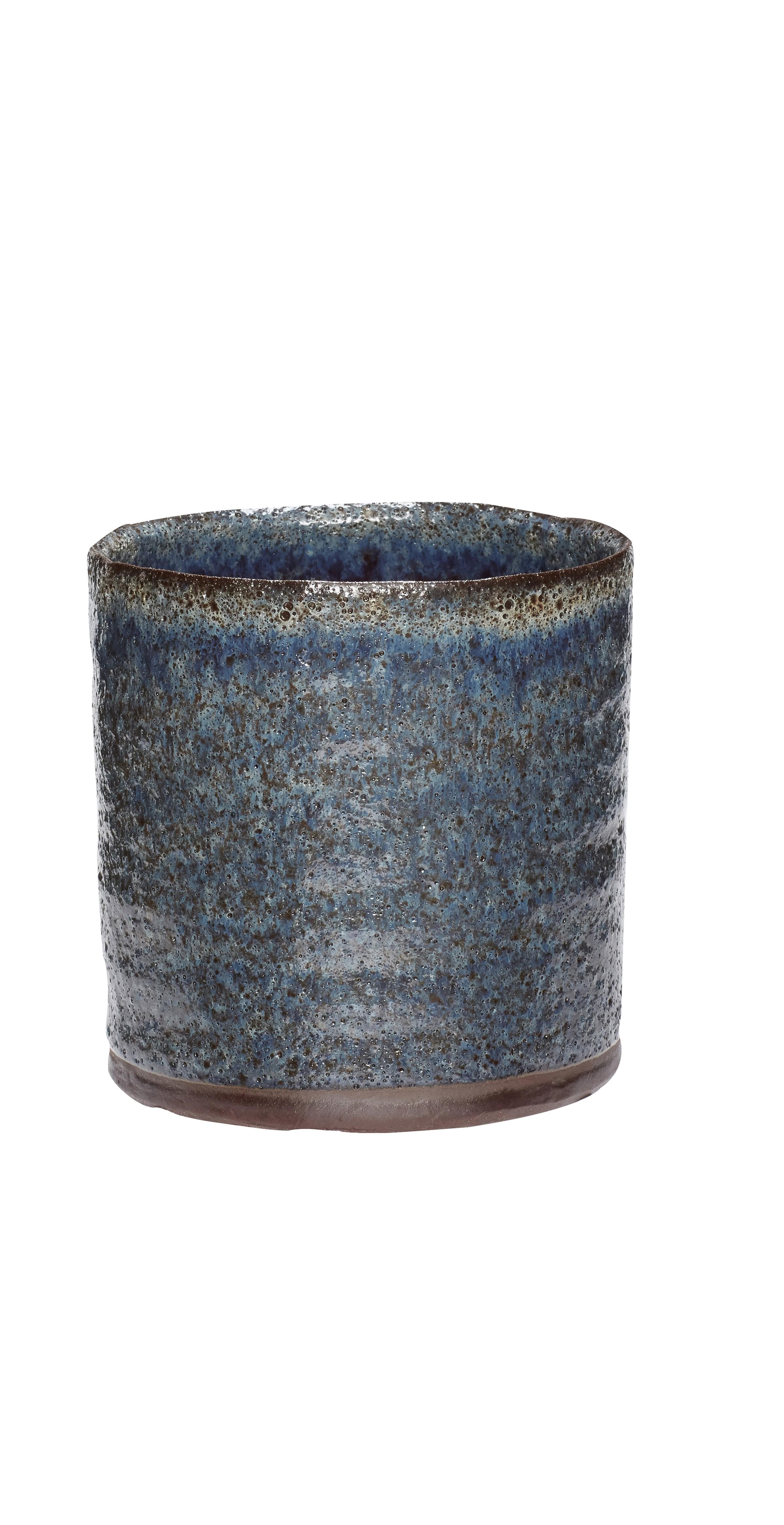 Plant pot Mixed Textured blue & green