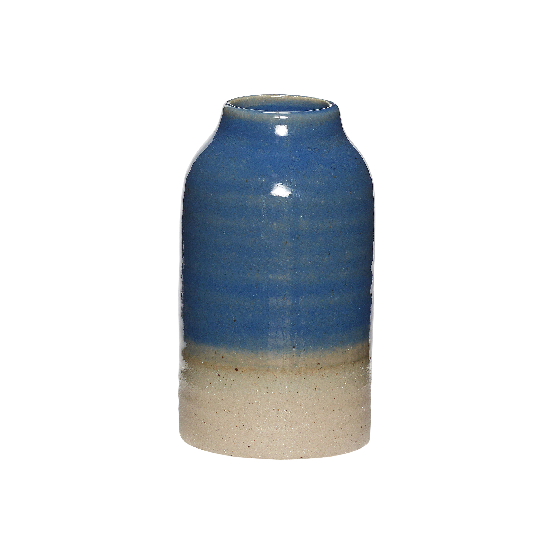 Hubsch Blue & stone bud vase