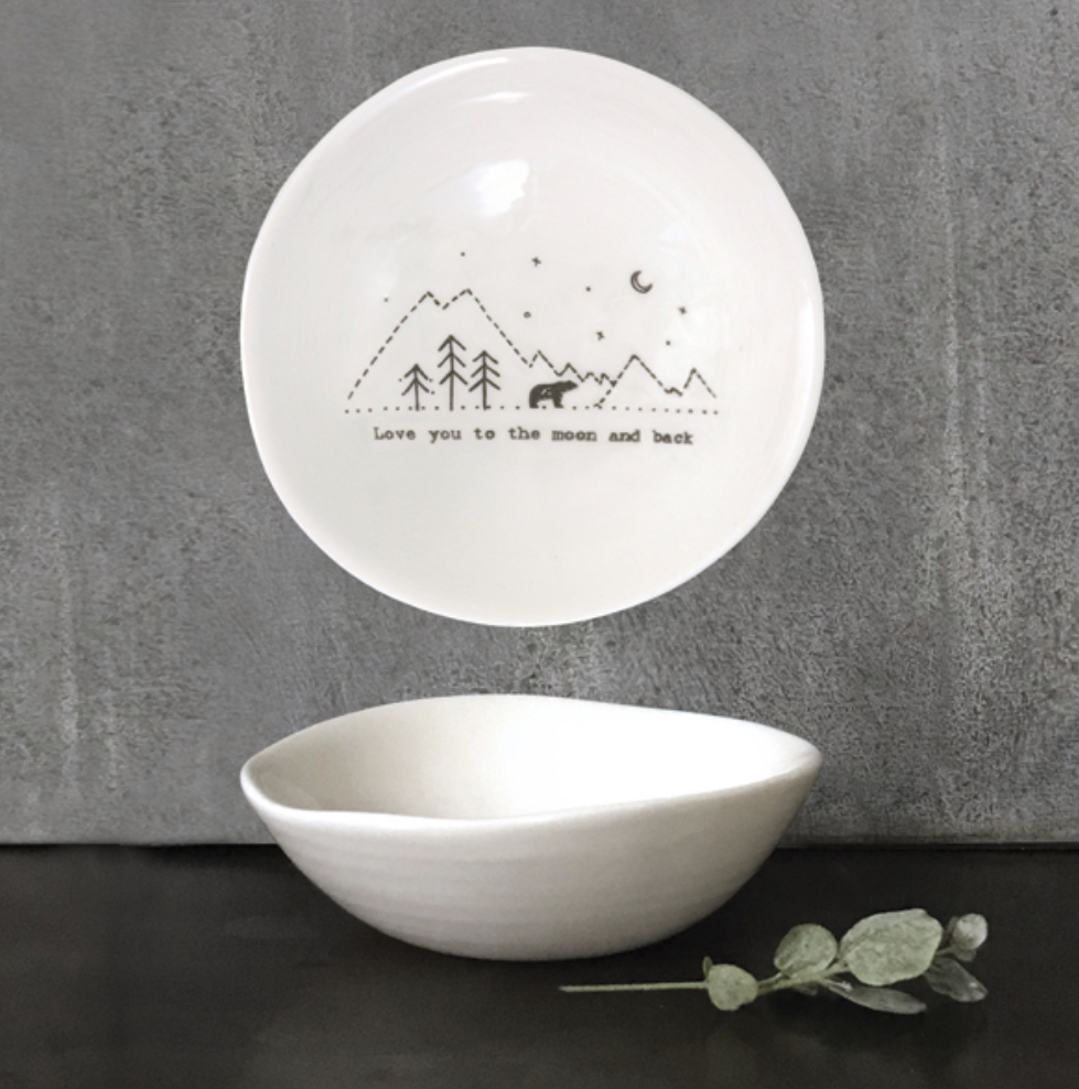East of India trinket dish. Love you to the moon and back.