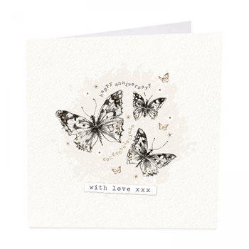 Butterflies anniversary card