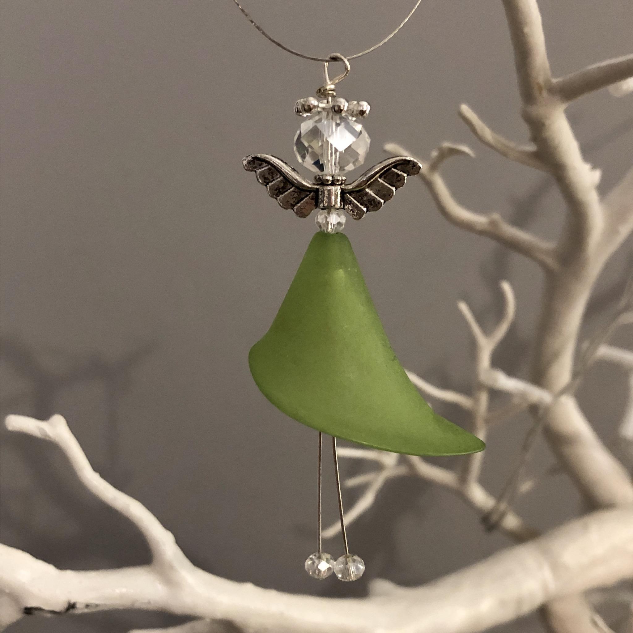 Bead hanging angel decoration