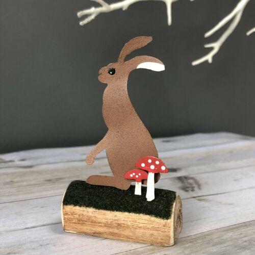 Standing hare ornament by shoeless joe