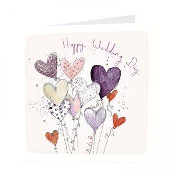Happy Wedding day. Heart balloon card