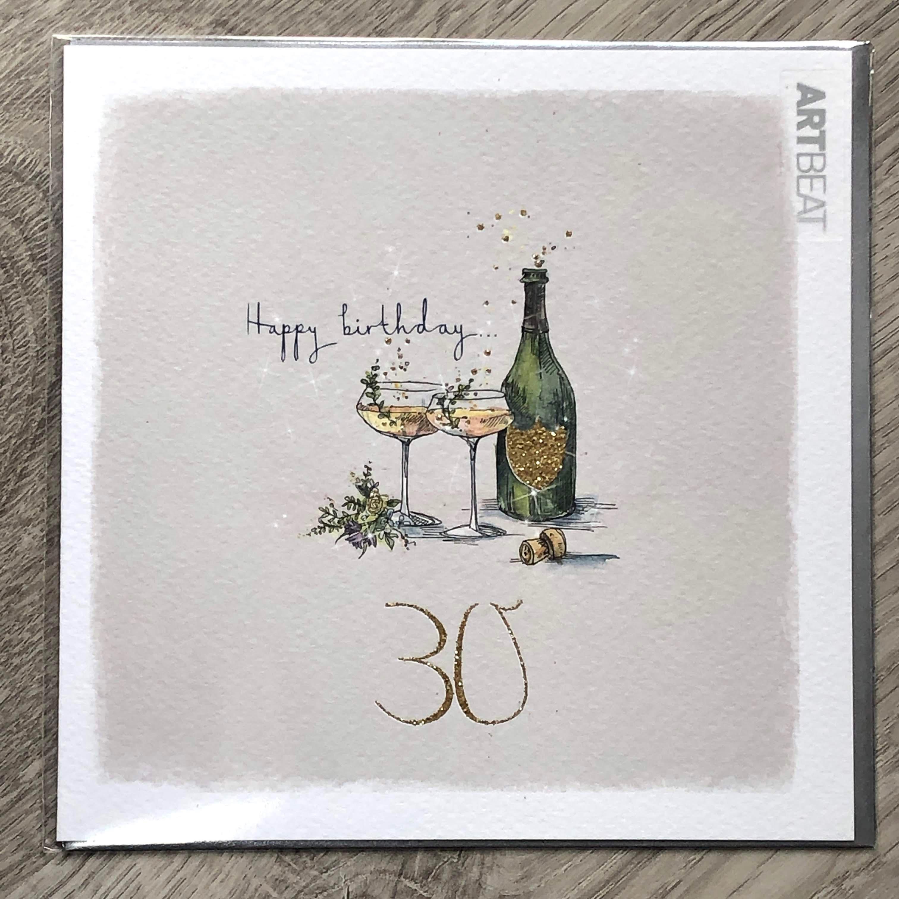 30th Birthday card. Pop the cork
