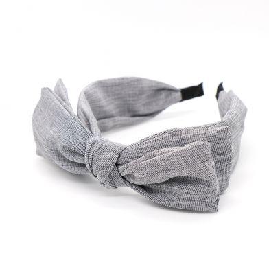 Grey large bow headband/ hair band by Pom