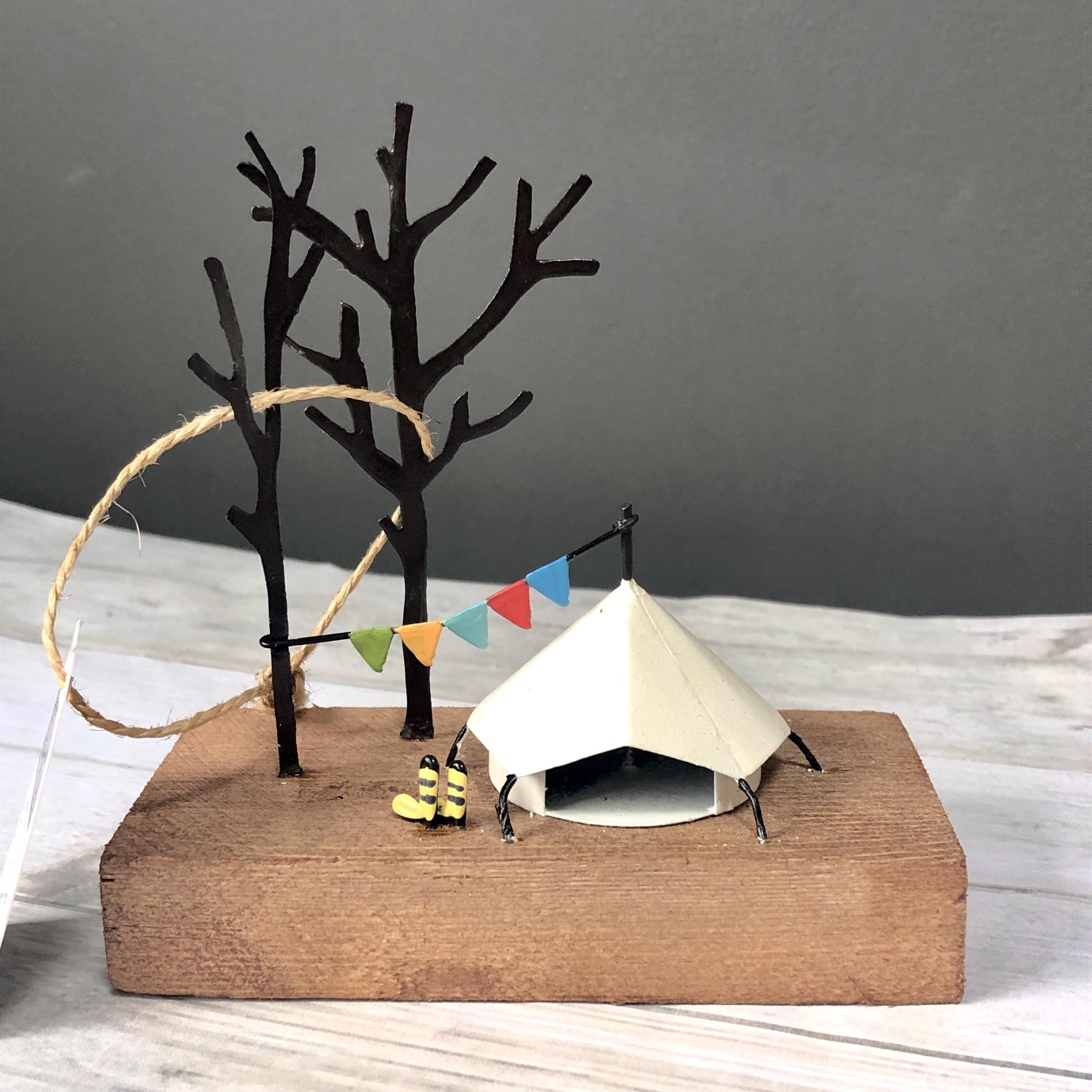 Festival tent camping ornament by shoeless joe