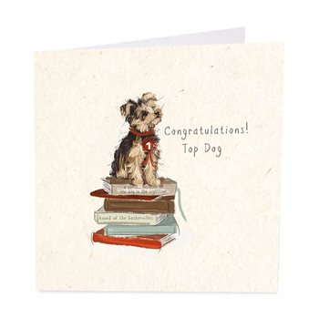 Congratulations top dog . Card by art beat
