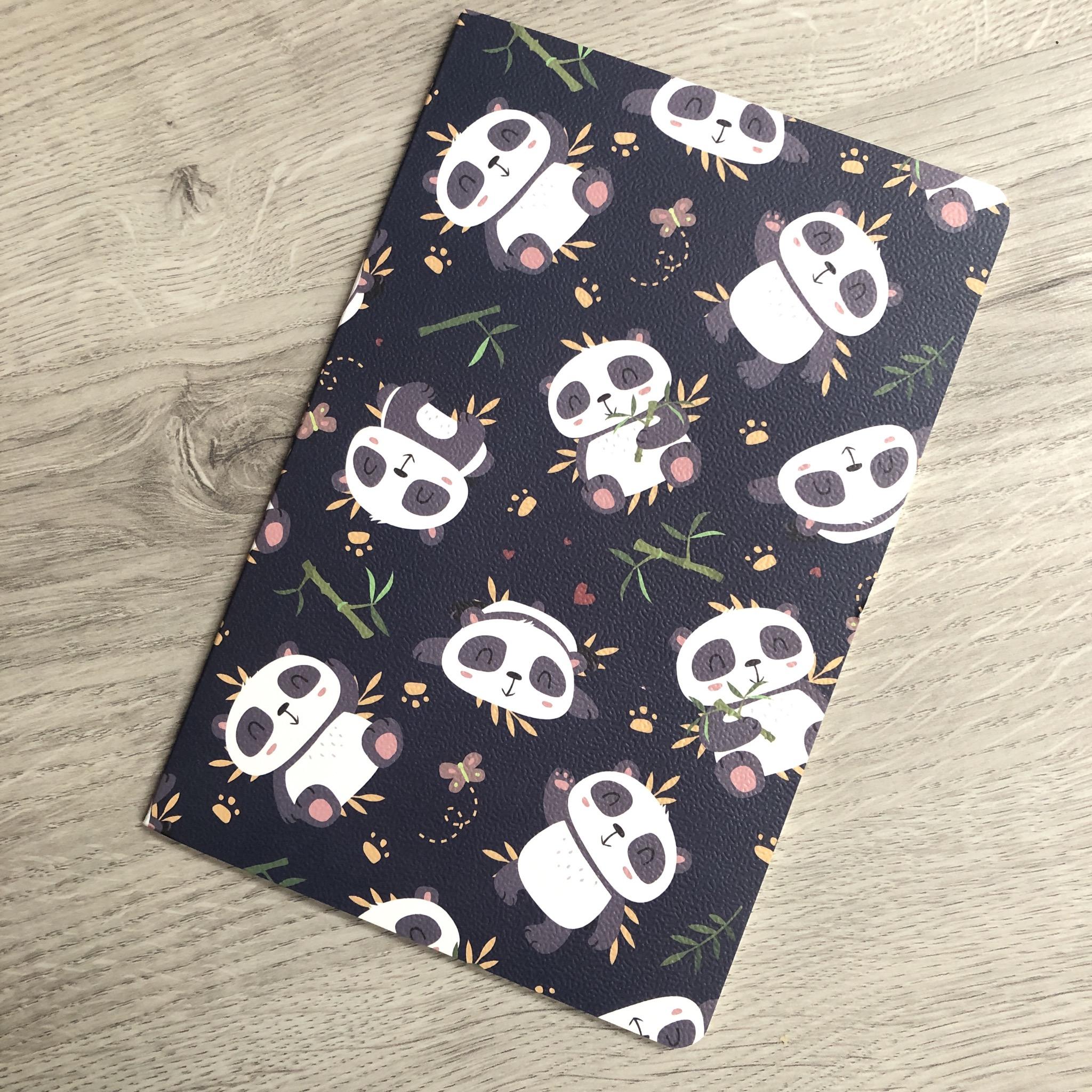 Panda notebook. Lined paper notebook