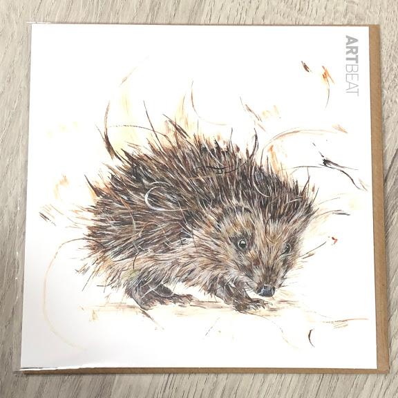 Card - hedgehog little rascal