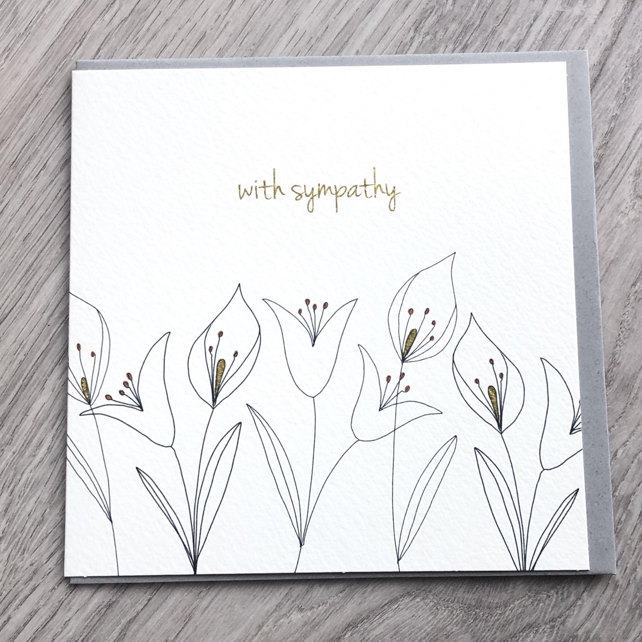 Sympathy flower card. With sympathy card.