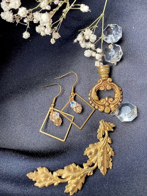 Arden earrings handmade by IROA couture