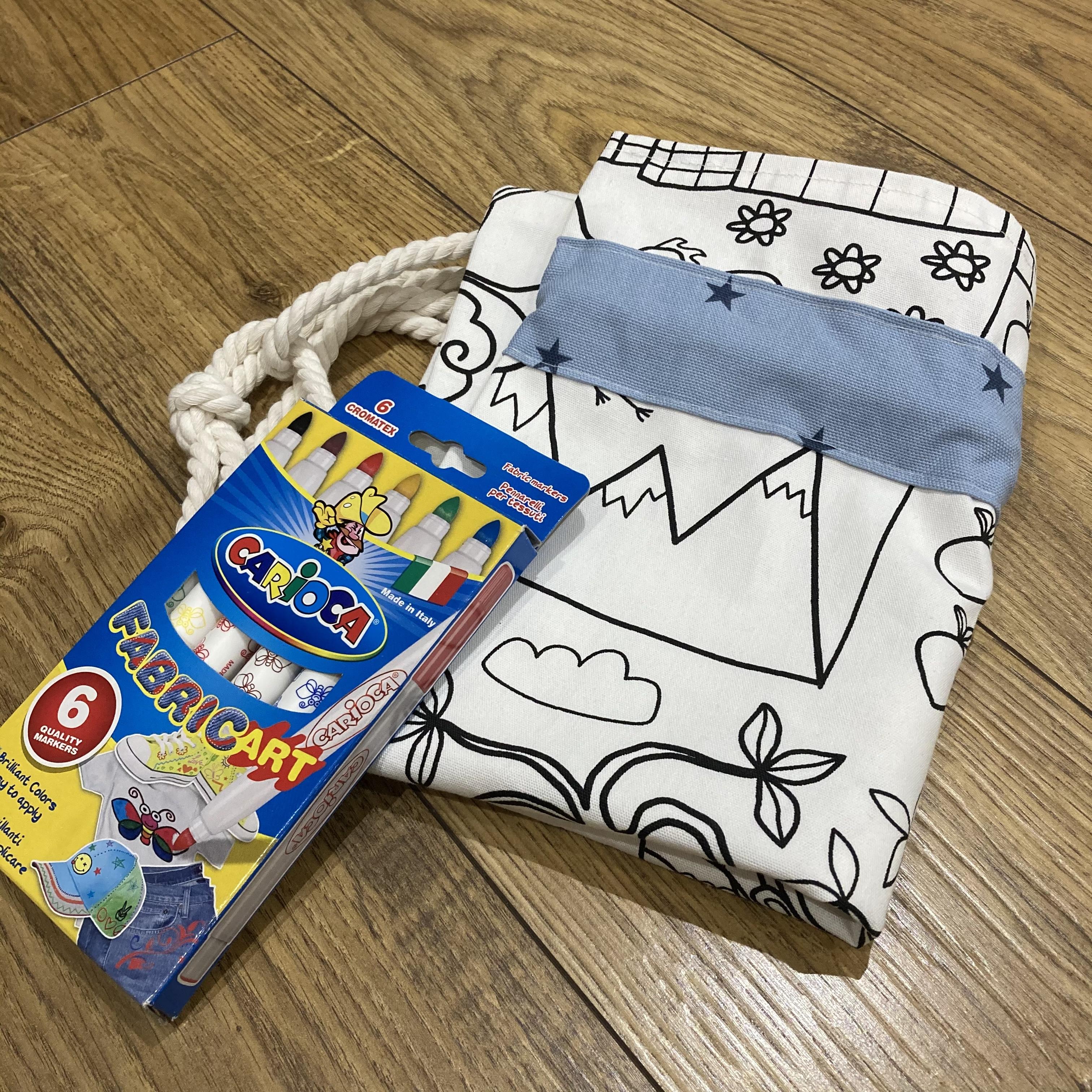 Colour-me-in Drawstring bag