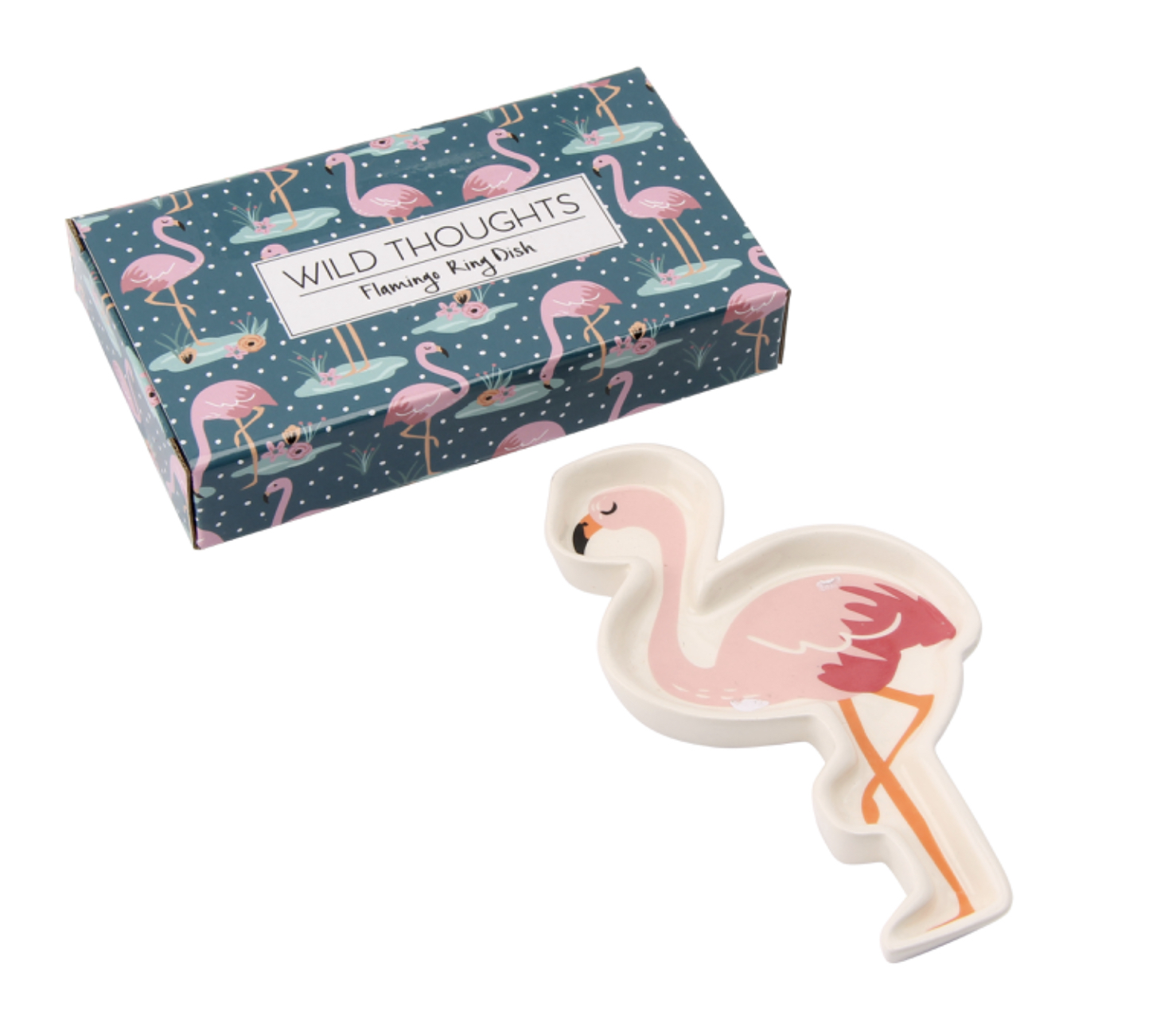 Flamingo ring dish.