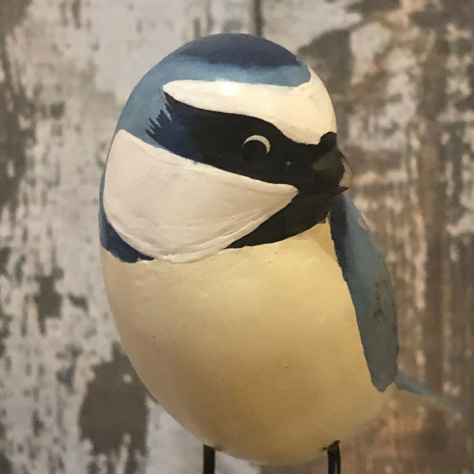 ARCHIPELAGO Fair Trade wooden Bird carving - D306-Blue tit.