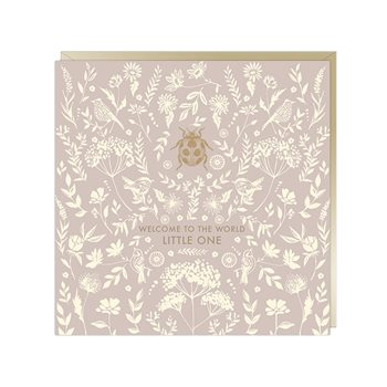 Card- welcome to the world little one -pink