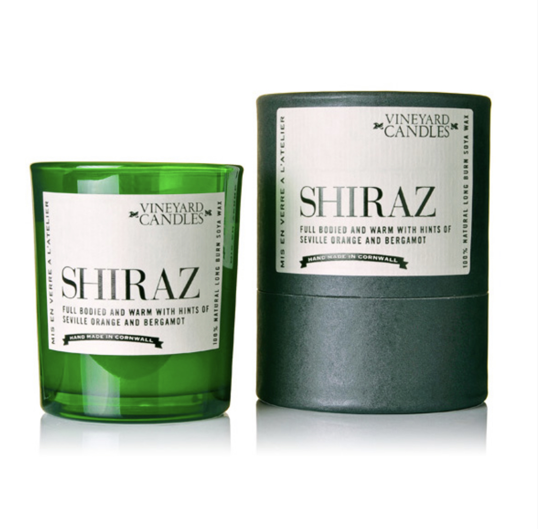 Shiraz scented candle by Vineyard candles. - small