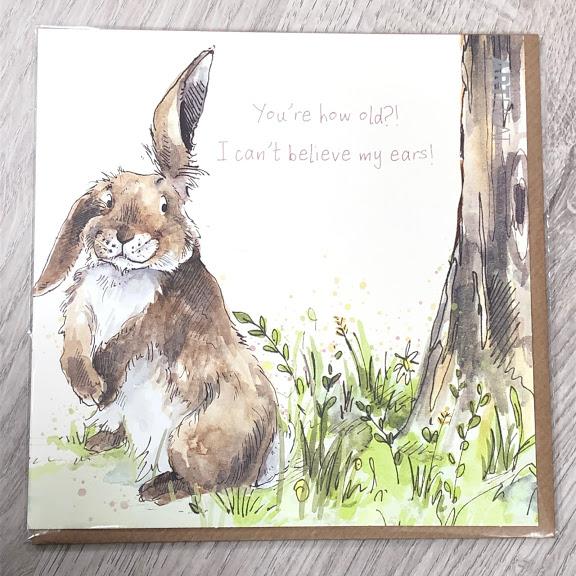 Birthday card - I can't believe my ears