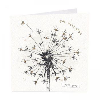 Get well soon . Dandelion card by art beat