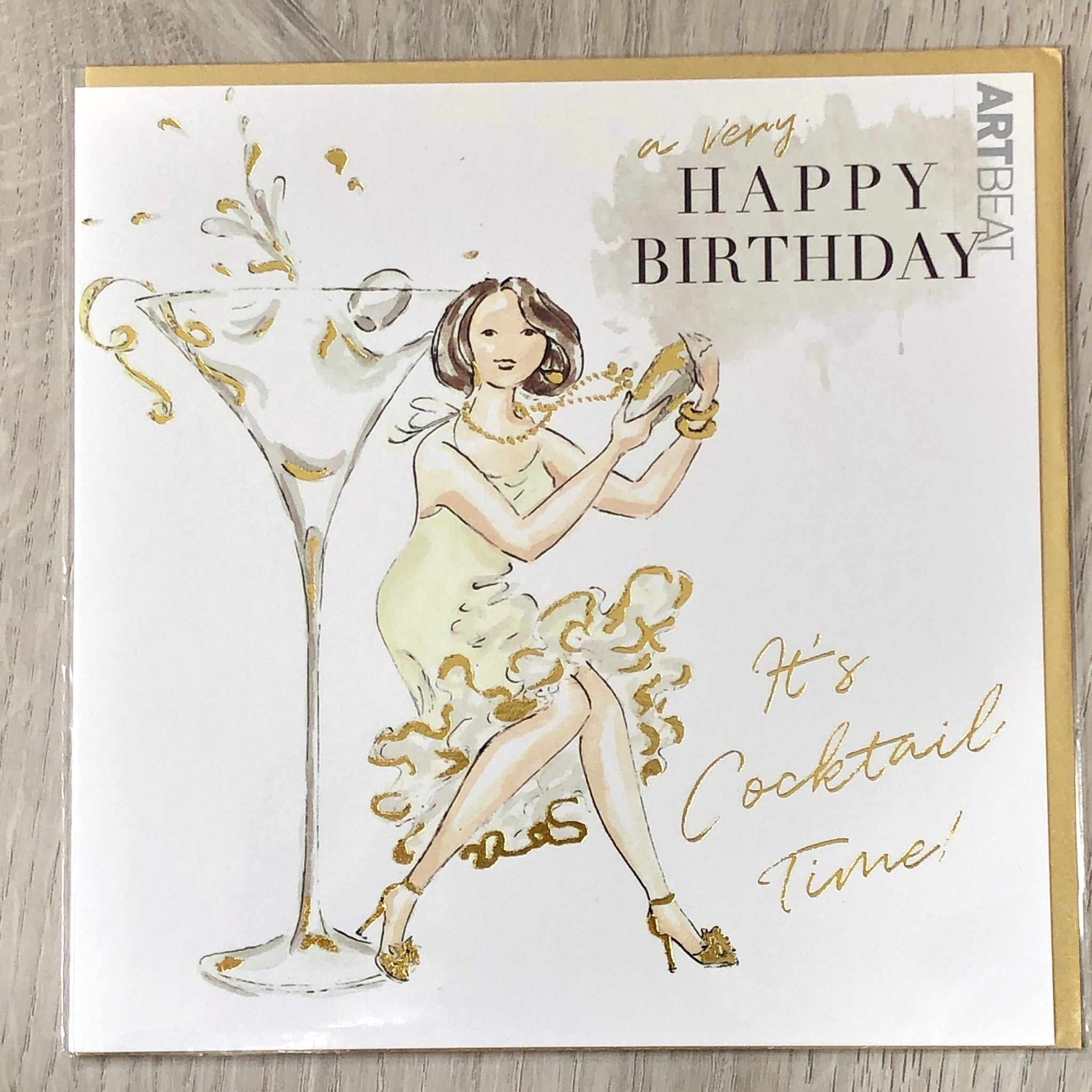Birthday card- It's cocktail time!