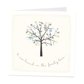 A new branch on the family tree. New baby card