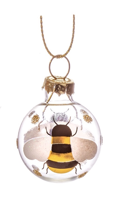 Mini glass bee bauble