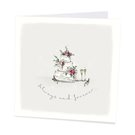 Always and forever wedding card