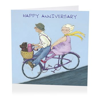 Bicycle for two anniversary card