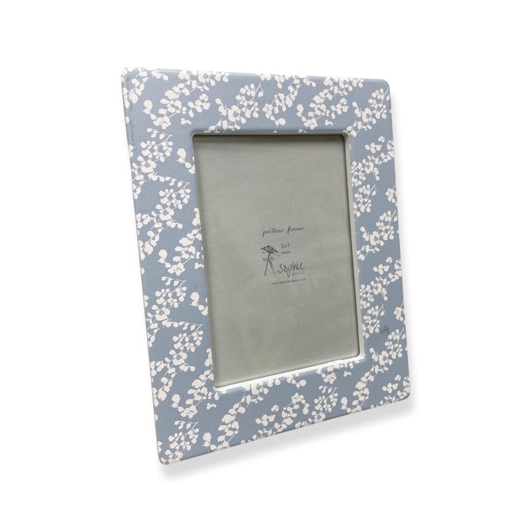 Blue flower 5x7 photo frame . Sophie Richford
