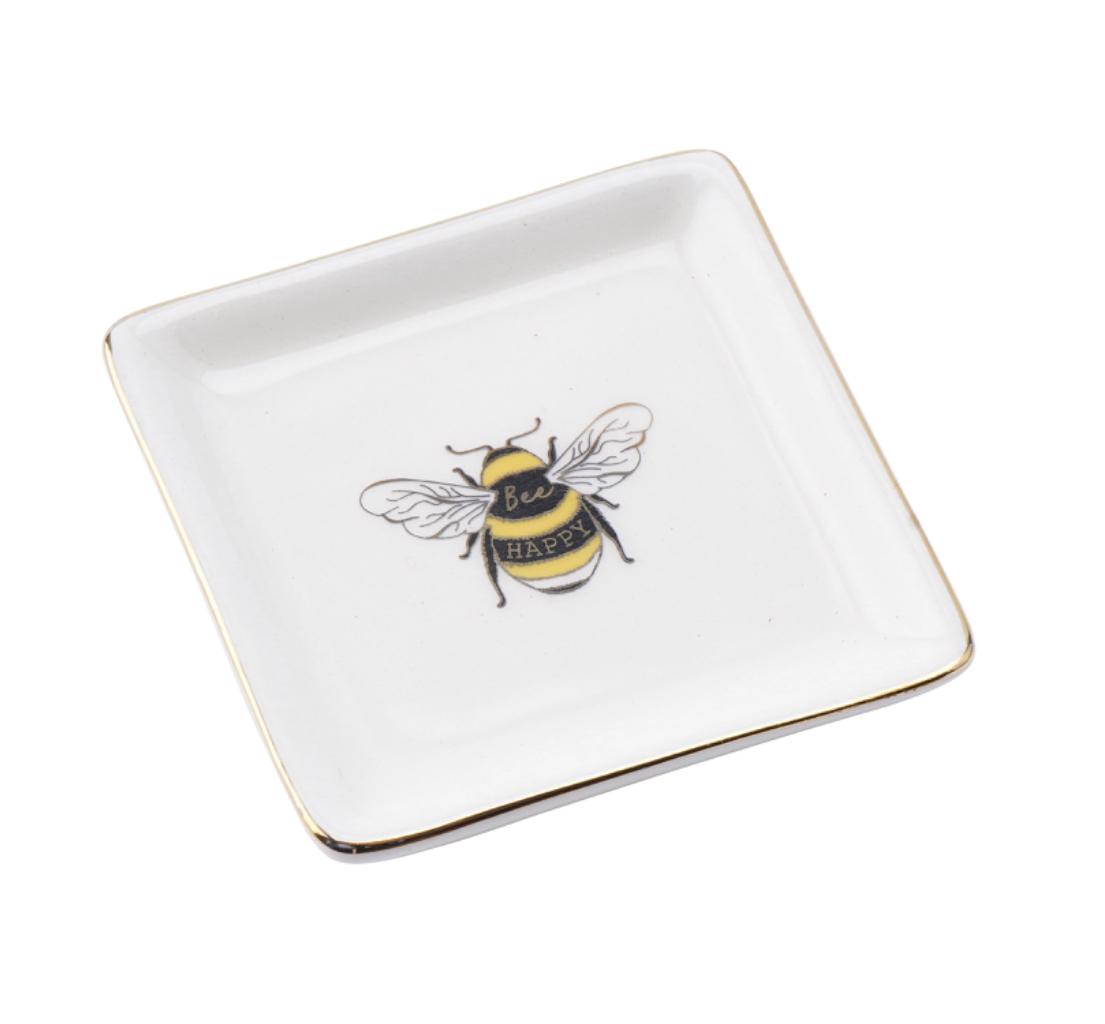 Beekeeper bumble bee ring dish. Bee happy.