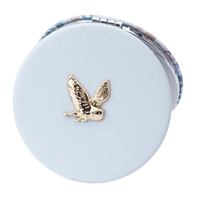 British Birds Blue Owl Compact Mirror