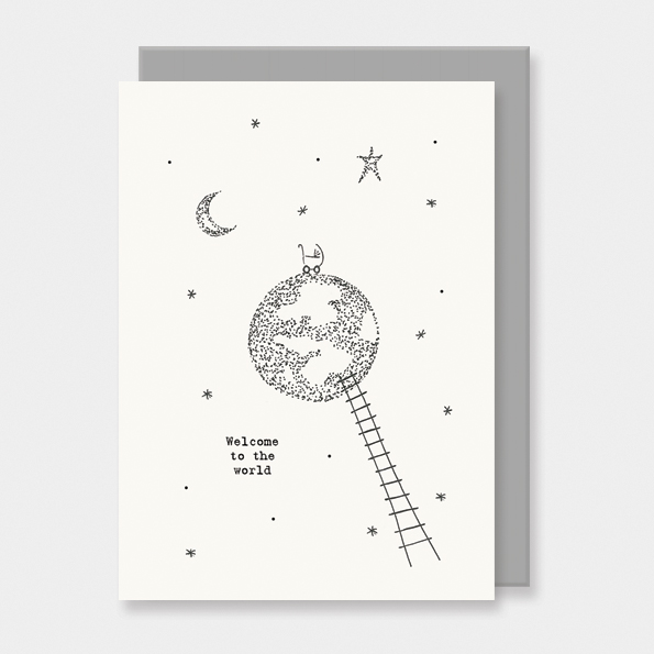 Welcome to the world- new baby card