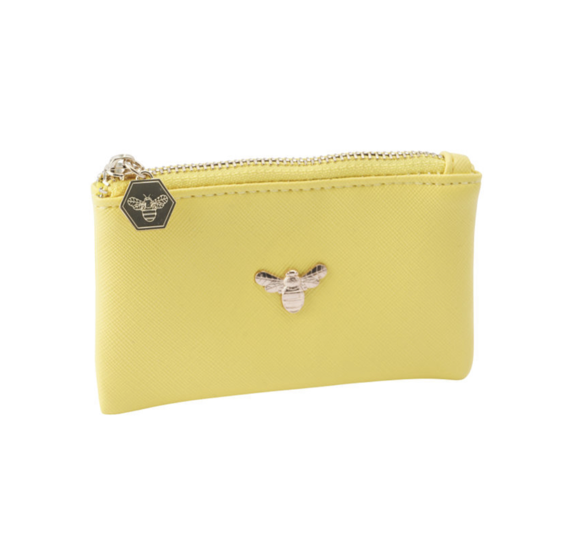 The beekeeper bee coin purse in yellow. Bumble bee.