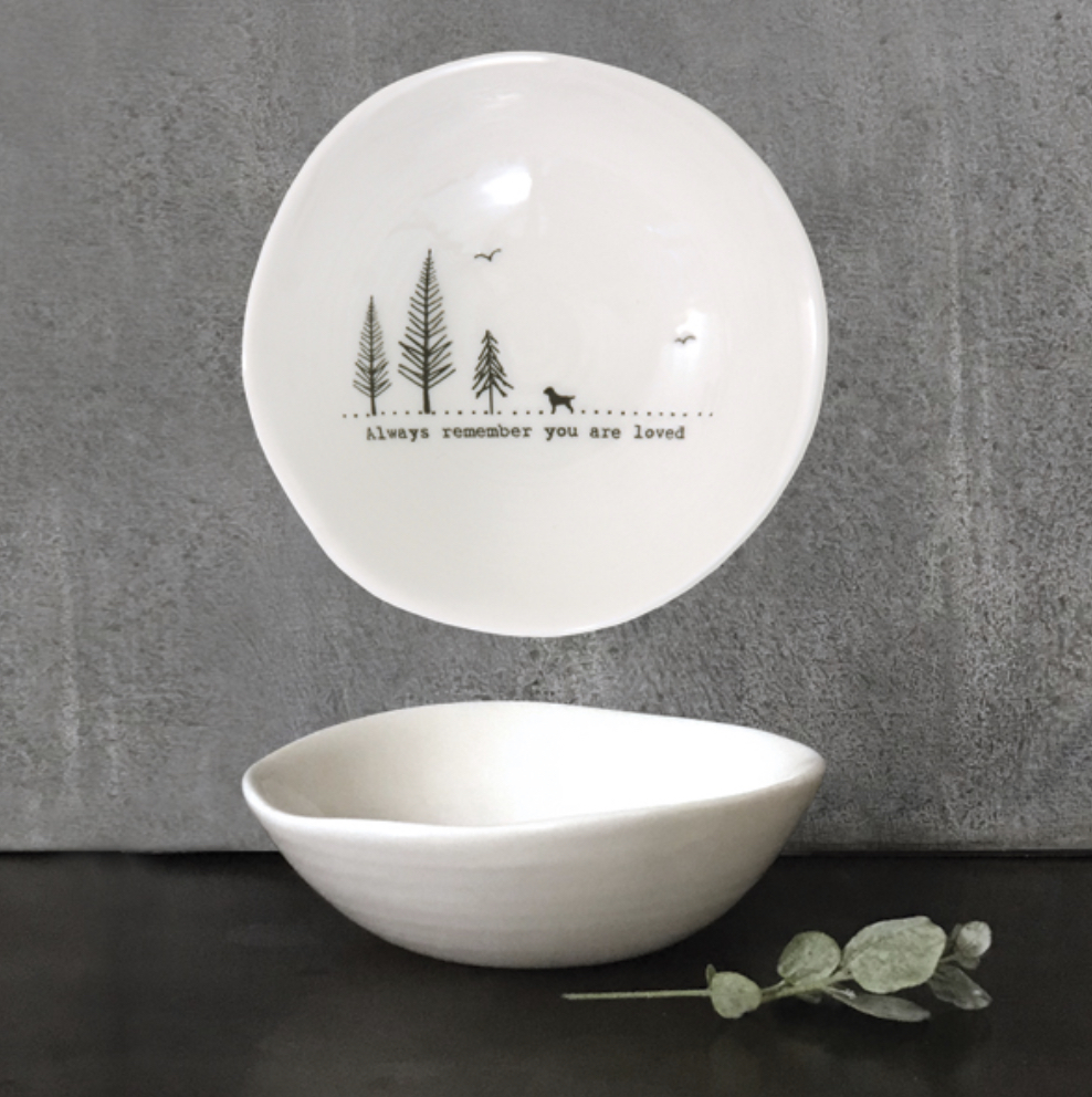 East of India trinket dish. Always remember you are loved.