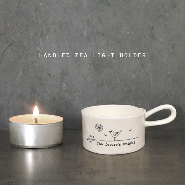 The future's bright boxed ceramic tea light holder by east of India
