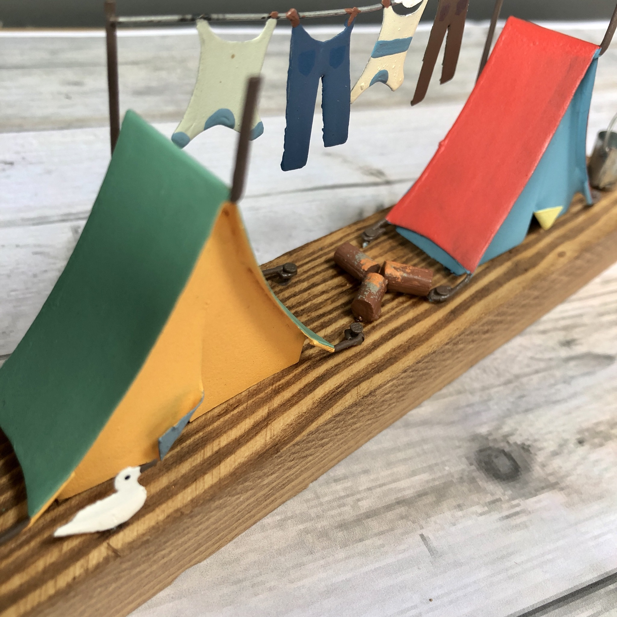 Retro tents campsite life  ornament by shoeless joe.