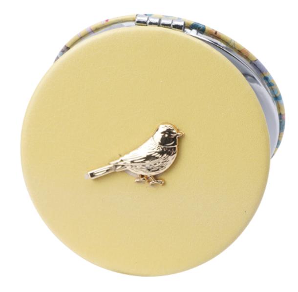 British Birds Yellow Blue Tit Compact Mirror