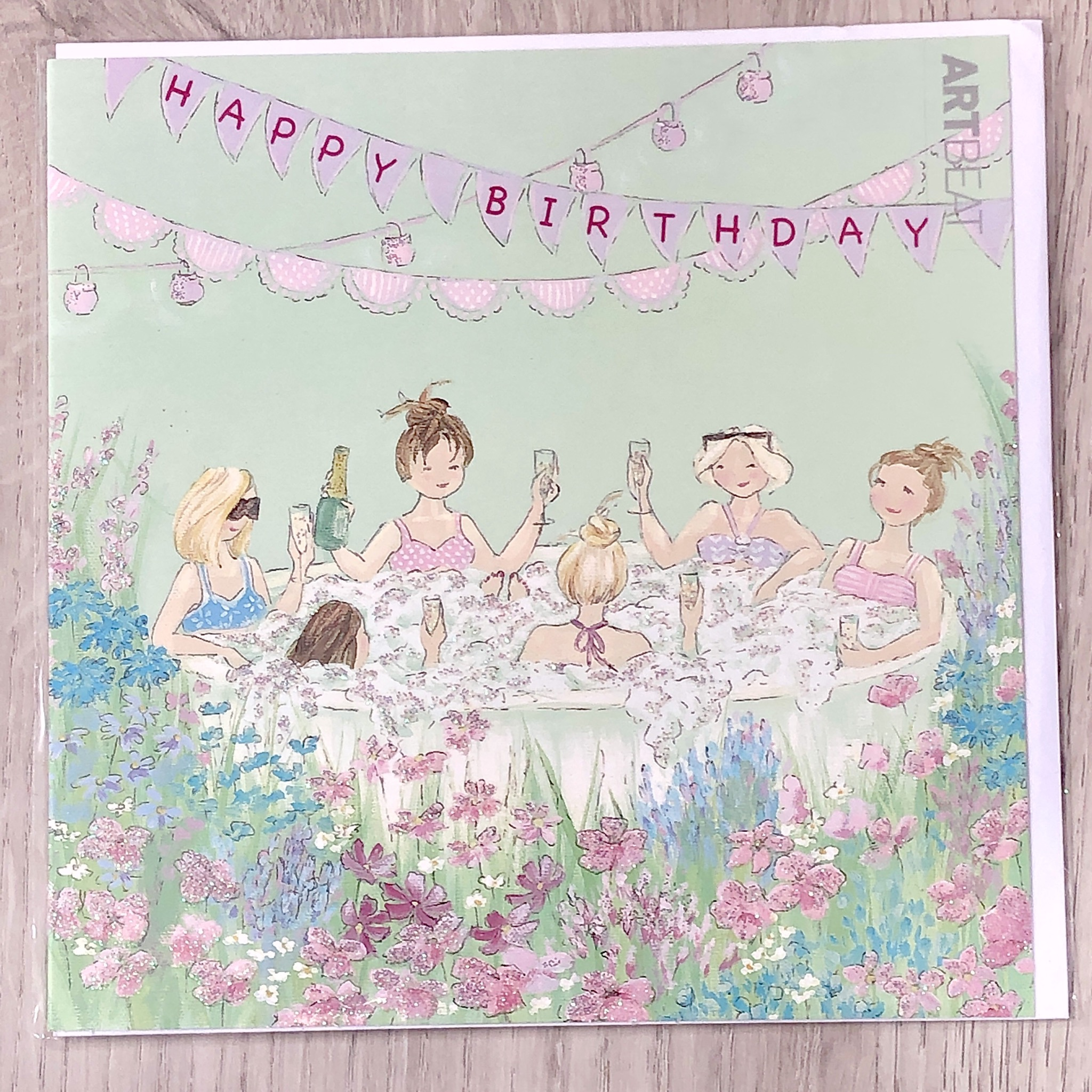 Birthday card- Jacuzzi Party
