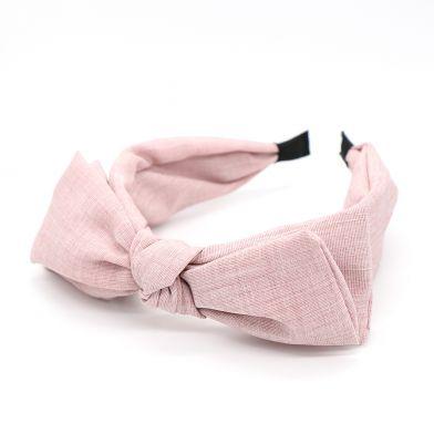 Blush pink large bow headband by POM