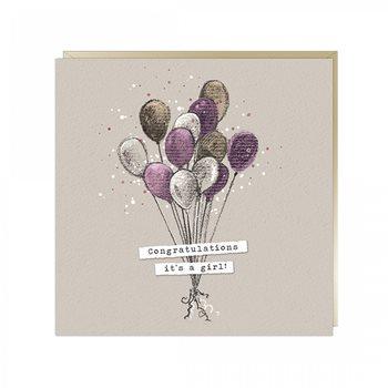 It's a girl! balloon card