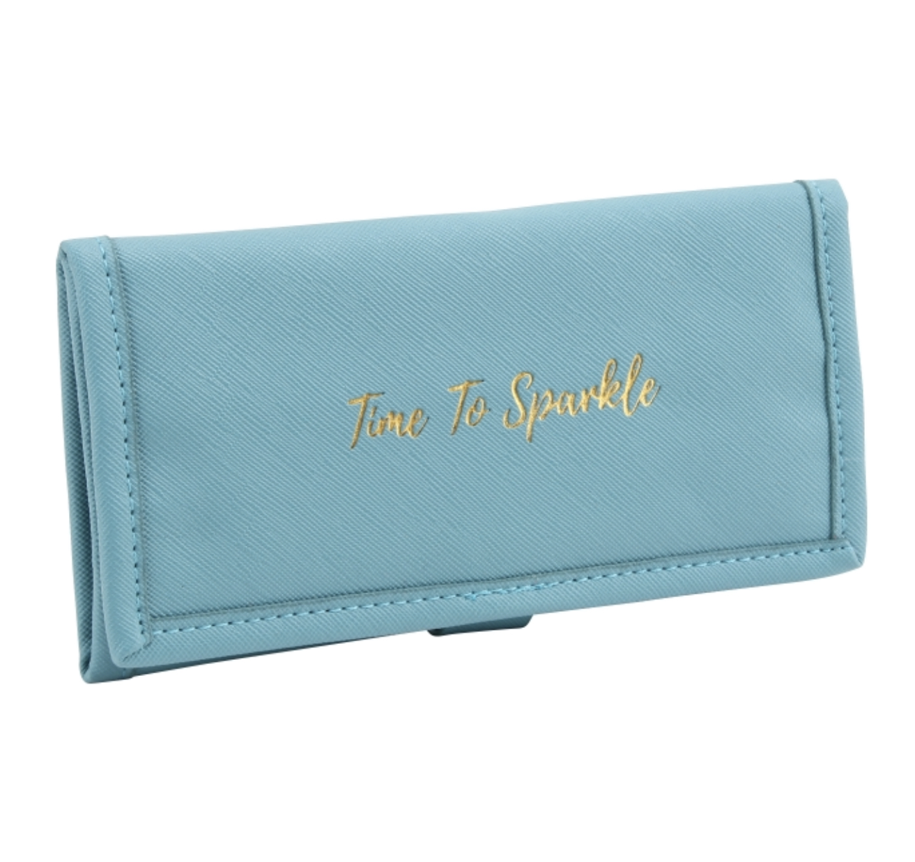 TIME TO SPARKLE BLUE JEWELLERY ROLL. Travel jewellery roll by willow & rose.