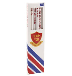 Pack of 6 world's best teacher pencils.